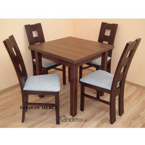 Kwadratowy ROZKŁADANY stół z 4 krzesłami POLECAM - produkt dostępny w Sandow.com