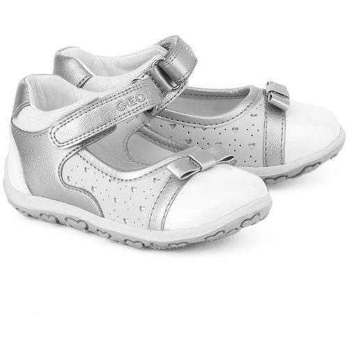 GEOX Baby Bubble - Białe Skórzane Baleriny Dziecięce - B52E6A 05443 C0434 - produkt dostępny w MIVO Shoes Shop On-line