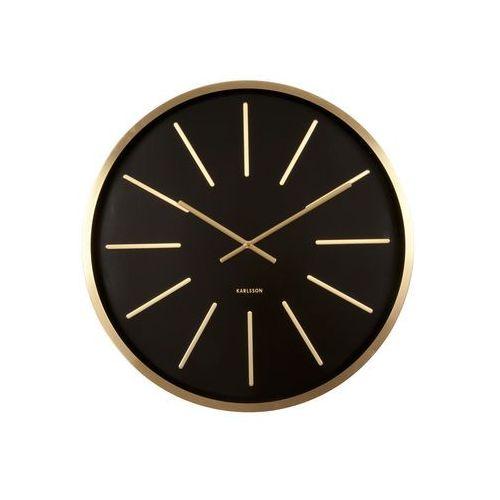 Karlsson :: zegar ścienny maxiemus brass station black