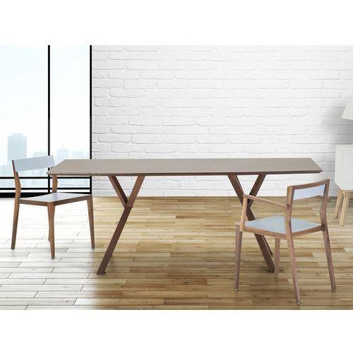 Stół do jadalni, kuchni, salonu - 180 cm - ciemny orzech - lisala marki Beliani
