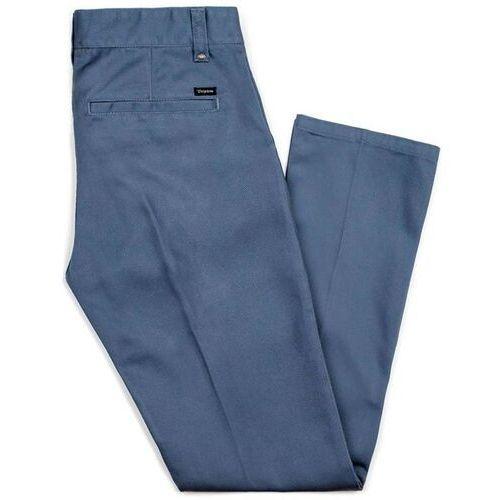 Brixton Spodnie - fleet rgd chino pant grey blue (gyblu) rozmiar: 38