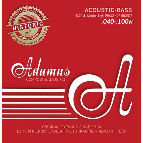 5300m (669605) struny do basu akustycznego phosphor bronze zestaw 4-string med marki Adamas