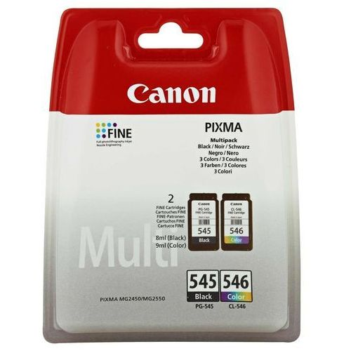 Canon Tusz PG-545/CL-546 MULTIPACK BLISTERED, kolor Czarny,