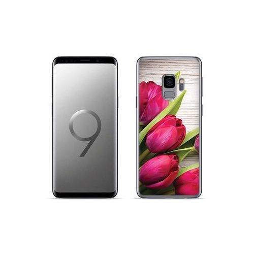 etuo Foto Case - Samsung Galaxy S9 Plus - etui na telefon Foto Case - czerwone tulipany, kolor czerwony