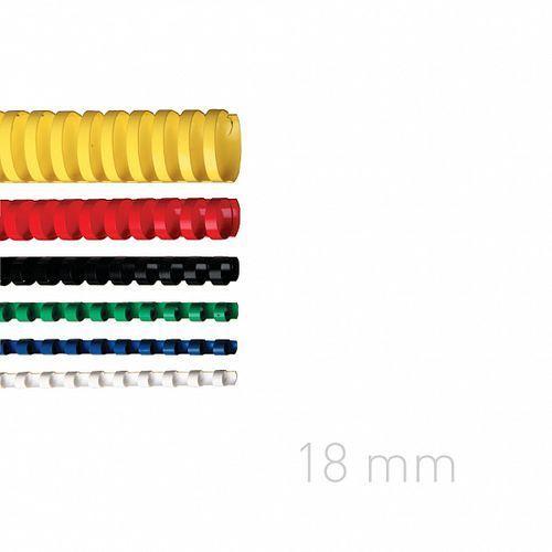 Opus Grzbiety plastikowe o.comb 18mm niebieskie 100szt./op.