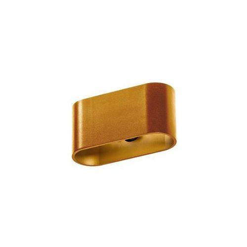 Kinkiet LAMPA ścienna VEGA GM1121 AGO Azzardo metalowa OPRAWA prostokątna złoto anodowane (5901238417460)