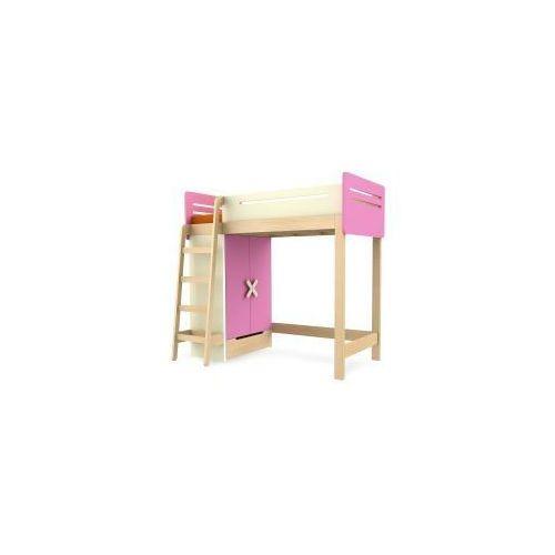 Łóżko piętrowe z szafą