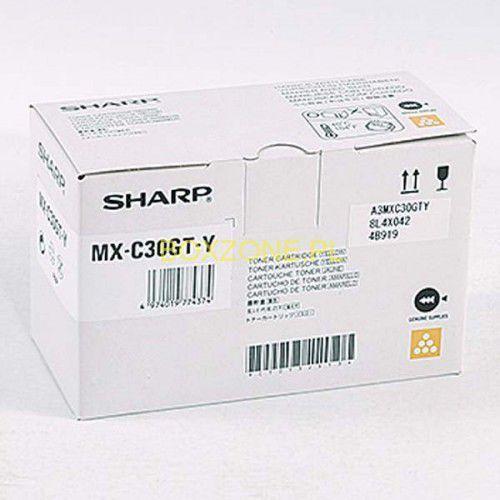 Sharp oryginalny toner MX-C30GTY, yellow, 6000s, Sharp MX-C250FE/C300WE (4974019774374)