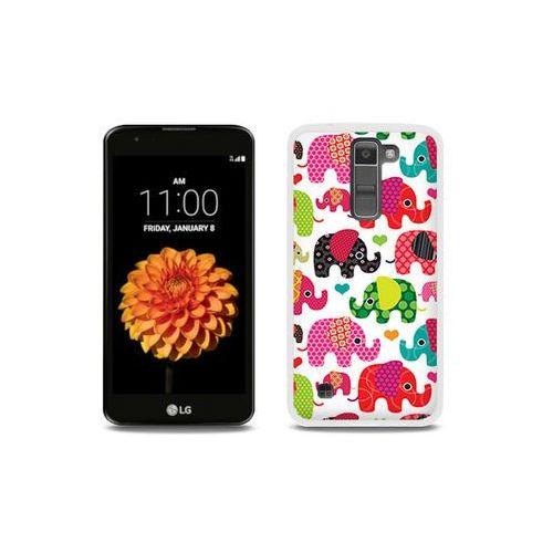 etuo Fantastic Case - LG K7 - etui na telefon Fantastic Case - kolorowe słonie, ETLG286FNTCFC125000