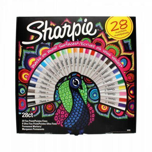 Markery Permanentne Sharpie 28 Kolorów FN UFN Paw