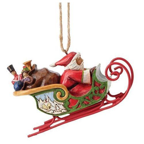 Mikołaj w saniach zawieszka santa in sleigh 4053836 figurka ozdoba świąteczna marki Jim shore