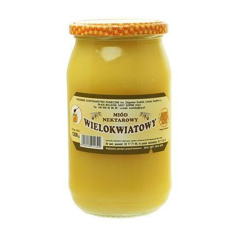 Miód wielokwiatowy nektarowy 1200g Rodzinna Pasieka Sudnik (5908248911322)