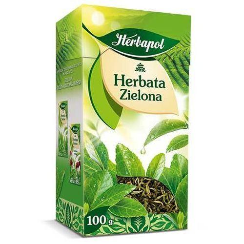 Herbata 80g zielona liść marki Herbapol
