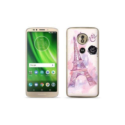 etuo Fantastic Case - Motorola Moto G6 Play - etui na telefon Fantastic Case - różowa wieża eiffla, kolor różowy