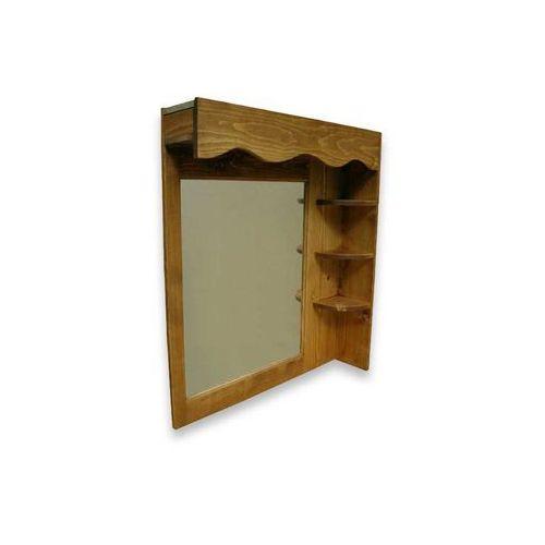 Półka wisząca z lustrem z drewna świerkowego Mexicana 1, Gowood z Seart - Meble z Drewna