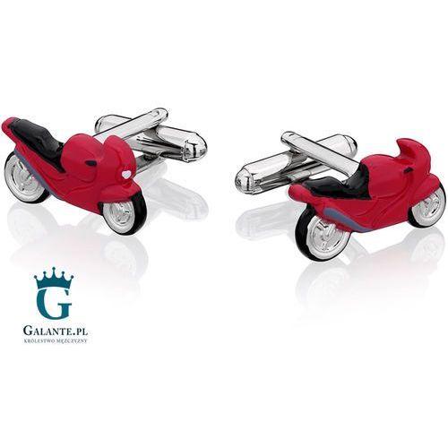 Galante Spinki do mankietów czerwony motor ścigacz ps-375