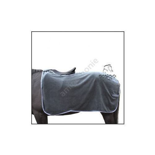 Derka pod siodło (polarowa) czarna z popielatym obszyciem - produkt dostępny w Pro-horse Sklep Jeździecki