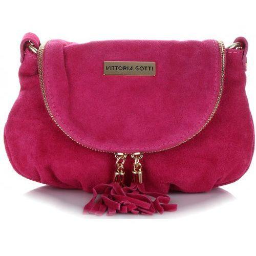 da789fd3ace3d Vittoria gotti Małe uniwersalne torebki skórzane listonoszki na co dzień  firmy fuksjowe (kolory) 99