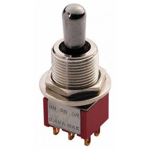 Mec maxi toggle switch chromowany on - on - on dpdt przełącznik gitarowy