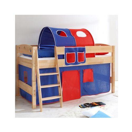 TICAA Łóźko piętrowe EDDY drewno bukowe Natur Classic -niebieski/czerwone - oferta [155ed2ad1f2334ef]