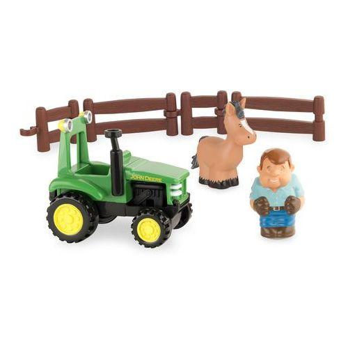 John deere tomy zestaw do zabawy z traktorem 43067