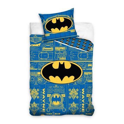 Dekoria Komplet pościeli Batman, poszwa 160x200cm, 1 poszewka 70x80cm