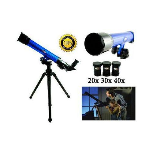 Edukacyjny Teleskop Astronomiczny + Statyw + Wymienne Okulary (20x, 30x, 40x)., 5907773416287