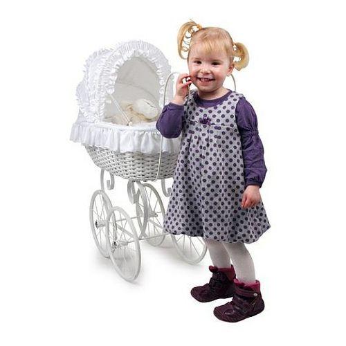 Wiklinowy wózek dla lalek, Nostalgiczny styl, 8772-small foot design, zabawki dla dziewczynek - oferta [056c437b47c585de]
