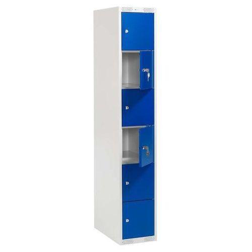 Szafki osobiste 1 sekcja po 6 skrytek w pionie Kolor drzwi: Niebieski - produkt z kategorii- szafy ubraniowe