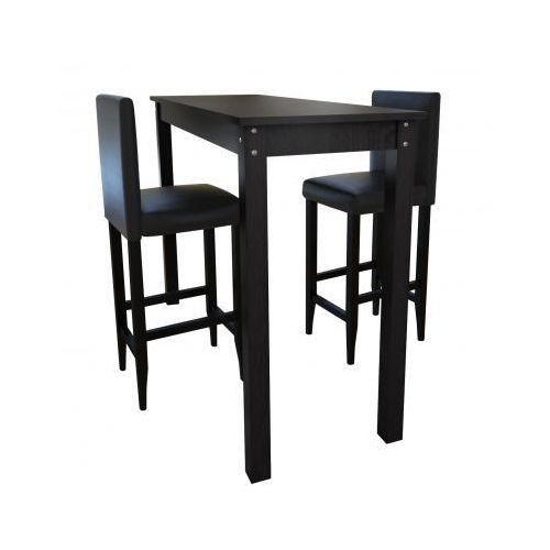 Stolik barowy z krzesłami (2 sztuki), czarny., marki vidaXL do zakupu w VidaXL