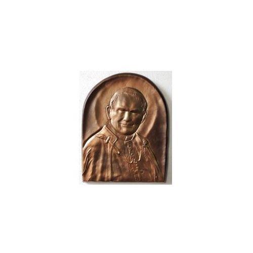Święty papież jan paweł ii - płaskorzeźba w skórze na prezent - pd-4 marki Art deco