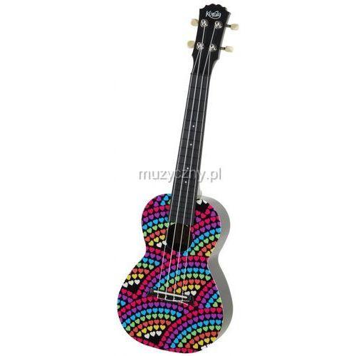 Korala PUC 30-012 ukulele koncertowe Rainbow Of Hearts