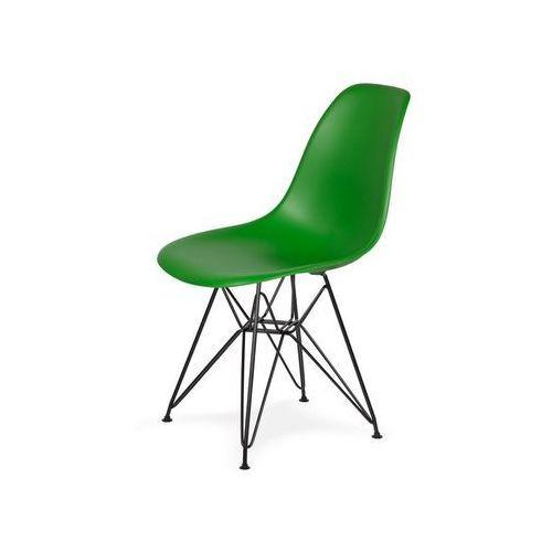 Krzesło plastikowe dsr black irlandzka zieleń.21 - podstawa metalowa czarna marki King home