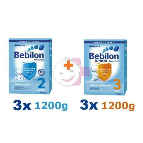 Bebilon 2 z Pron. 3x1200g + Bebilon 3 z Pron. 3x1200g ZESTAW (mleko dla dzieci)
