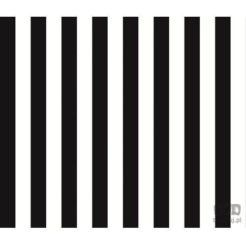 Tapeta ścienna w paski black & white bw28702 bezpłatna wysyłka kurierem od 300 zł! darmowy odbiór osobisty w krakowie. marki Galerie