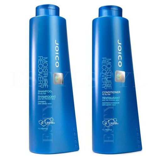 Joico Moisture Recovery | Zestaw do włosów suchych: szampon 1000ml + odżywka 1000ml