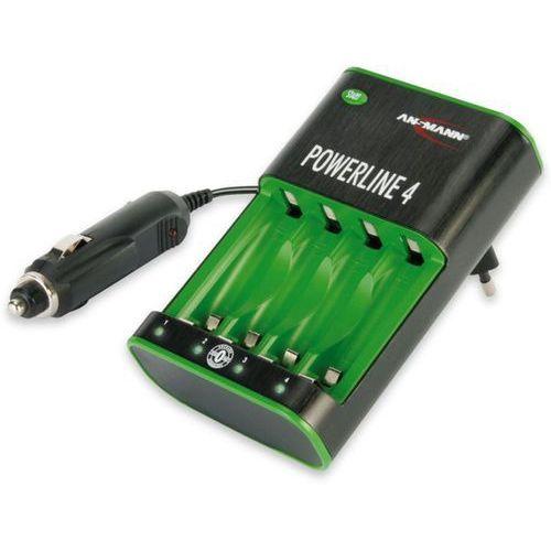 Ansmann ładowarka do akumulatorów powerline 4, kolor czarny, 5107553