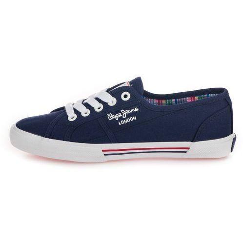 Pepe Jeans tenisówki damskie Aberlady Basic 17 36 ciemnnoniebieskie (8433997472970)