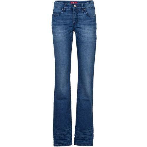 Dżinsy ze stretchem BOOTCUT bonprix niebieski, niebieski w 9 rozmiarach