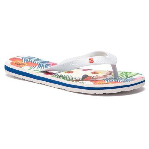 Japonki DESIGUAL - Shoes Flip Flop Tropical 19SSHF17 1000 Biały, kolor biały