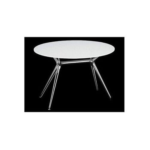 Stół Metropolis II biały nogi chromowe Machina Meble 5306-412-7011-CR-002 - produkt dostępny w sfmeble.pl