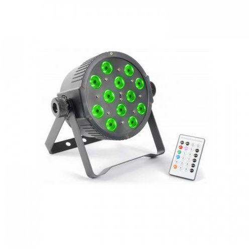 Beamz flatpar 12x 3w tri-color led dmx ir z pilotem (8715693271782)