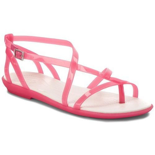 Sandały - isabella gladiator sandal w 204914 paradise pink/oyster marki Crocs