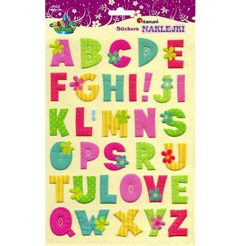 Titanum Litery alfabetu, naklejki 19x31cm 33szt, craft-fun