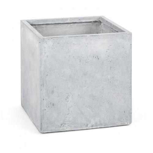 Blumfeldt solidflor doniczka/pojemnik na rośliny 50x50x50 cm fiberton jasnoszary