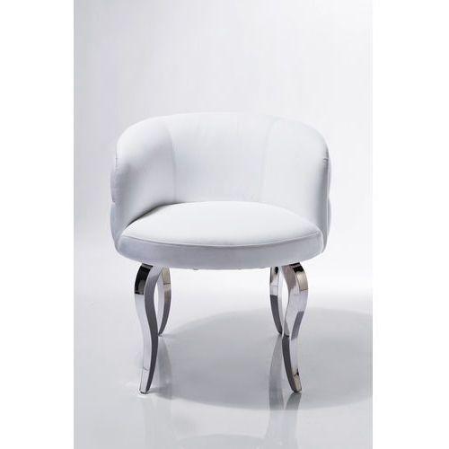 Kare Design Emporio Biały Fotel z Kryształkami Skóra Ekologiczna (76204), marki Kare Design do zakupu w sfmeble.pl