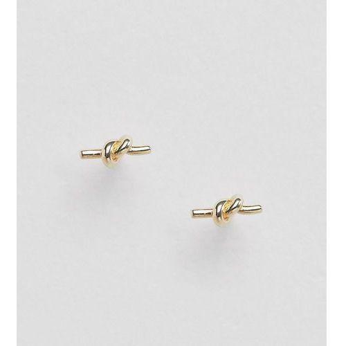 sterling silver gold plated knot stud earrings - gold marki Designb london