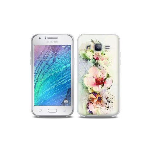 Samsung galaxy j5 - etui na telefon full body slim fantastic - róże herbaciane marki Etuo full body slim fantastic