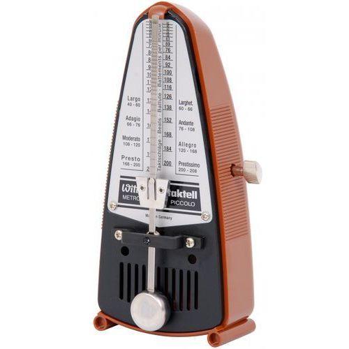 Wittner 831 903080 piccolo metronom mechaniczny bez akcentu, kolor mahoń
