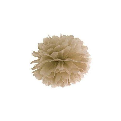 Dekoracja wisząca pompon kwiat - karmelowa - 25 cm - 1 szt. marki Ap